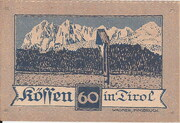 60 Heller (Kössen in Tirol) -  revers