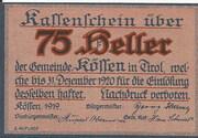 75 Heller (Kössen in Tirol) – avers