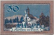 30 Heller (Kössen in Tirol) – revers