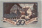 50 Heller (Kössen in Tirol) – revers