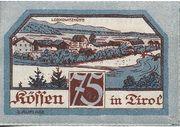 75 Heller (Kössen in Tirol) – revers