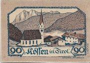 90 Heller (Kössen in Tirol) – revers
