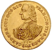 1 Ducat - Franz Conrad von Rodt – avers