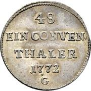 1/48 Thaler - Franz Conrad von Rodt (Conventionstaler) – revers