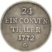 1/24 Thaler - Franz Conrad von Rodt (Conventionstaler) – revers