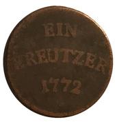 1 kreuzer Franz Konrad de Rodt -  revers