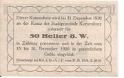 50 Heller (Korneuburg) -  revers