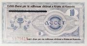 10 Dinar – revers