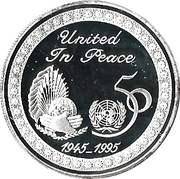 2 Dinars - Jaber III (50ème anniversaire des Nations Unies) – revers