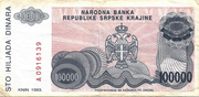 100.000 Dinara – revers