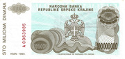 100.000.000 Dinara – revers