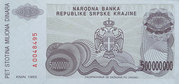 500 000 000 Dinara -  revers