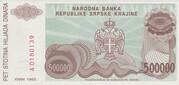500.000 Dinara – revers