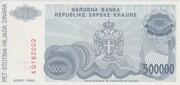 500,000 Dinara – revers