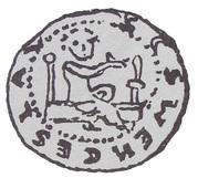 Denar - bishop krakowski Iwo Odrowąż (Kraków mint) – avers