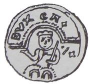 Brakteat - Kazimierz Sprawiedliwy (Kraków mint) – avers