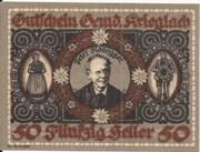 50 Heller (Krieglach) – avers