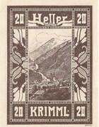 20 Heller (Krimml) – revers