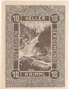 10 Heller (Krimml) – revers
