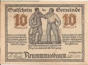 10 Heller (Krummnussbaum) – avers