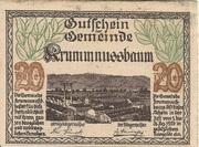 20 Heller (Krummnussbaum) – avers
