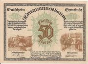 50 Heller (Krummnussbaum) – avers