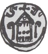 Denar - bishop kujawski Stefan (Włocałwek mint) – revers