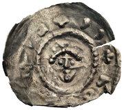 Brakteat hebrajski - Bolesław Mieszkowic (Kruszwica or Inowrocław mint) – avers