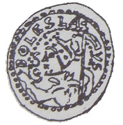 Brakteat - Bolesław kujawski or Leszek mazowiecko-kujawski (Kruszwica or Inowrocław or Płock mint) – avers