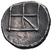 Diobol (Kydonia) – revers