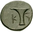 Bronze Æ16 (Kyme) – revers
