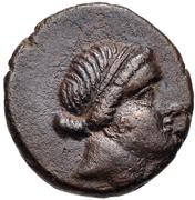 Bronze Æ14 (Kyme) – avers
