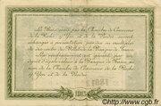 2 francs - Chambre de Commerce de la Roche-sur-Yon et de la Vendée [85] – revers