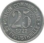 25 Centimes - Union commerciale et industrielle - La Clayette [71] – revers