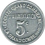 5 centimes - Société Grand'Combienne d'Alimentation - La Grand'Combe [30] – avers