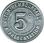 5 centimes - Société Grand'Combienne d'Alimentation - La Grand'Combe [30] – revers