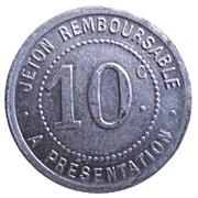 10 centimes - Société Grand'Combienne d'Alimentation - La Grand'Combe [30] – revers
