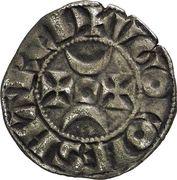 "Denier - Hugues XI de Lusignan dit ""le Brun"" (1249-1260) – avers"