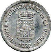 25 Centimes - Union des commerçants - La Réole [33] -  avers