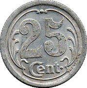 25 Centimes - Union des commerçants - La Réole [33] -  revers