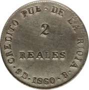 2 Reales – revers