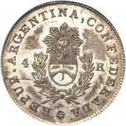 4 reales – avers