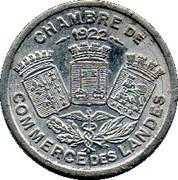 10 Centimes - Chambre de Commerce - Landes [40] – avers