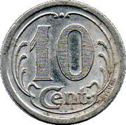10 Centimes - Chambre de Commerce - Landes [40] – revers