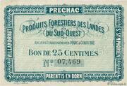 25 centimes - Produits Forestiers des Landes du Sud-Ouest – avers
