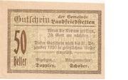 50 Heller (Landfriedstetten) -  avers