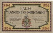 20 Pfennig (Langeness-Nordmarsch) – avers