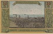 50 Pfennig (Langeness-Nordmarsch) – revers