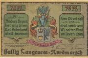 75 Pfennig (Langeness-Nordmarsch) – avers