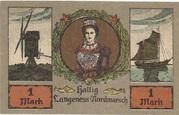 1 Mark (Langeness-Nordmarsch) – avers